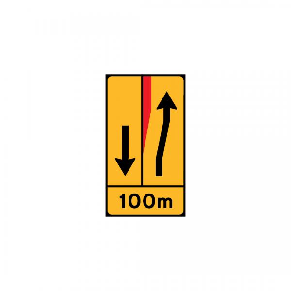 TD23-ST6 - Painel de estreitamento à esquerda (1×2) - TD | Painéis Temporários de Desvio