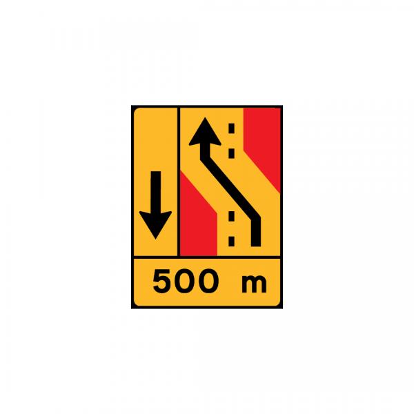 TD24 – Painel de desvio de direção (1×2+VL ou 1×4) Desvio de 1 via para a via adjacente à esquerda - TD | Painéis Temporários de Desvio