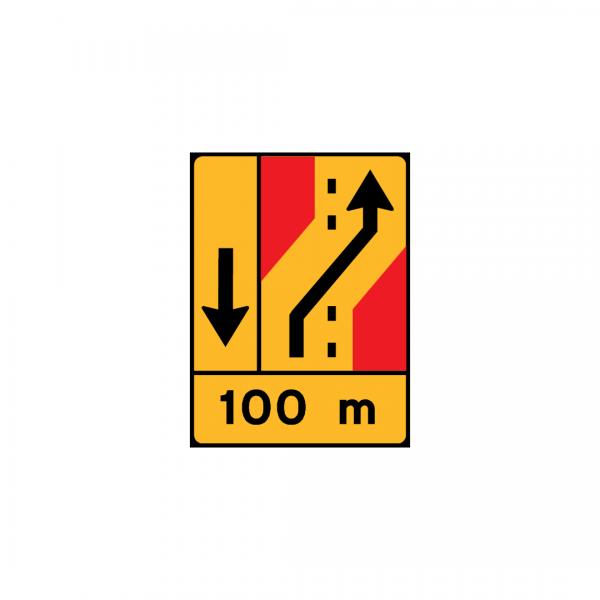TD25 – Painel de desvio de direção (1×2+VL ou 1×4) Desvio de 1 via para a via adjacente à direita - TD | Painéis Temporários de Desvio