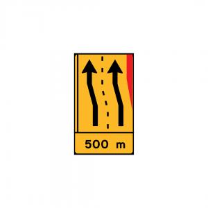 TD30 - Painel de estreitamento à direita (1×4) - TD | Painéis Temporários de Desvio