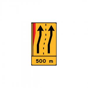 TD31 - Paine de estreitamento à esquerda (1x4) - TD | Painéis Temporários de Desvio