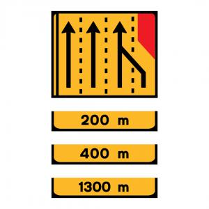 TD5 - Painel de estrangulamento à direita (4 vias) Desvio da via direita para a via central direita - TD | Painéis Temporários de Desvio