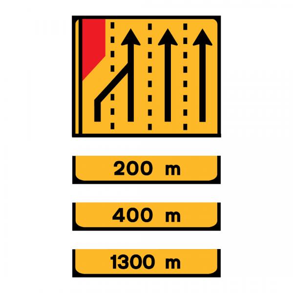 TD6 - Painel de estrangulamento à esquerda (4 vias) Desvio da via esquerda para a via central esquerda - TD | Painéis Temporários de DesvioTD6 - Painel de estrangulamento à esquerda (4 vias) Desvio da via esquerda para a via central esquerda - TD | Painéis Temporários de Desvio