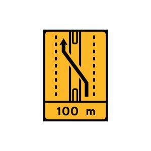 TD9 - Desvio de faixa (2×2 vias) Desvio da via esquerda para a via esquerda da faixa contrária - TD | Painéis Temporários de Desvio